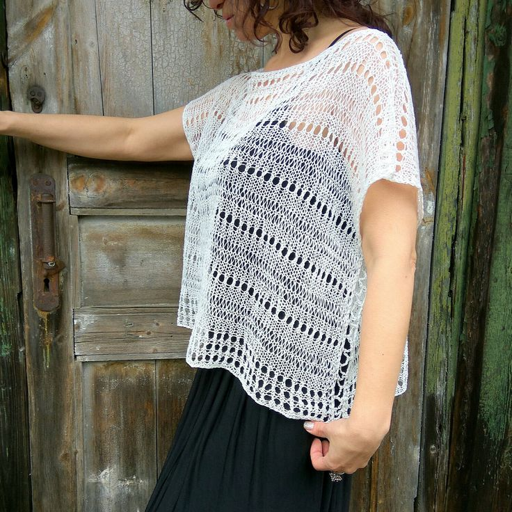 Only eco yarn, it's 100% linen. And my knitting)