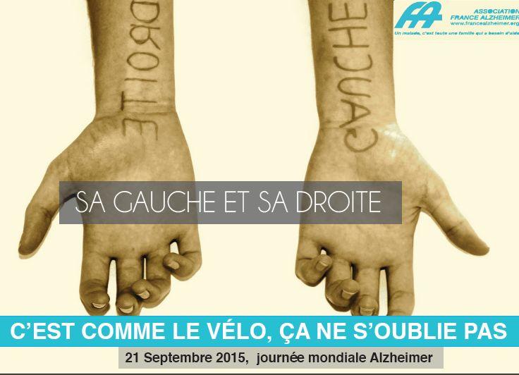 Réalisation par les option pub d'une campagne de sensibilisation de l'association France Alzheimer dans le cadre de la journée mondiale pour cette maladie.
