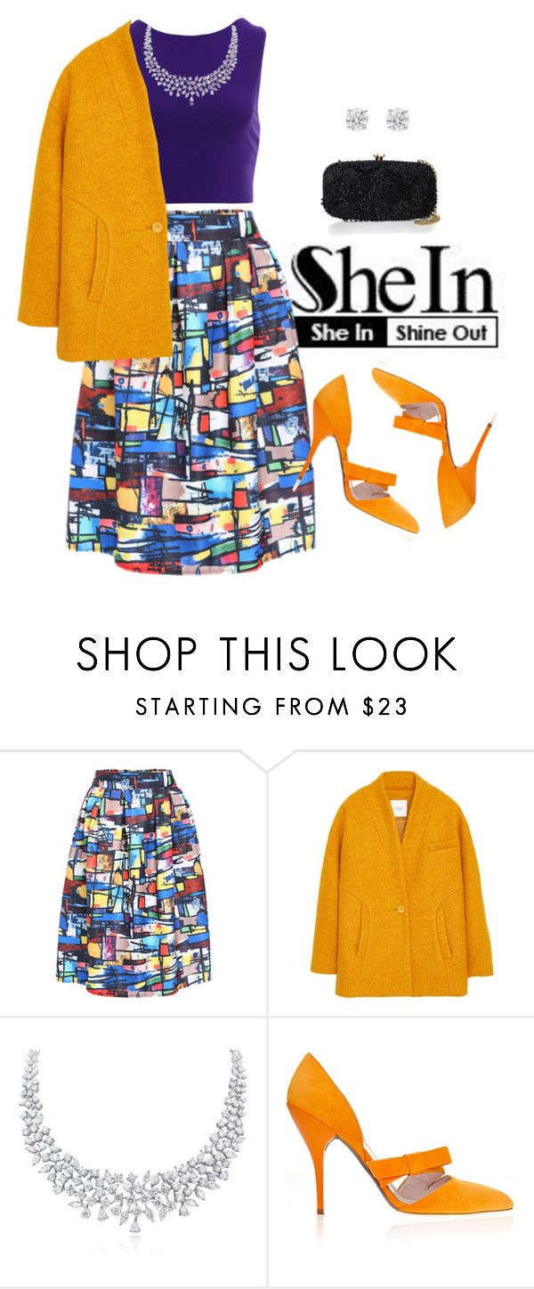 """""""Multicolor Skirt"""" by tulips04 ❤ liked on Polyvore featuring Marni, MANGO, Oscar de la Renta and skirt"""