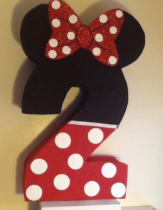 Minnie mouse Pinata. Number Piñata. Minnie Mouse Red by aldimyshop