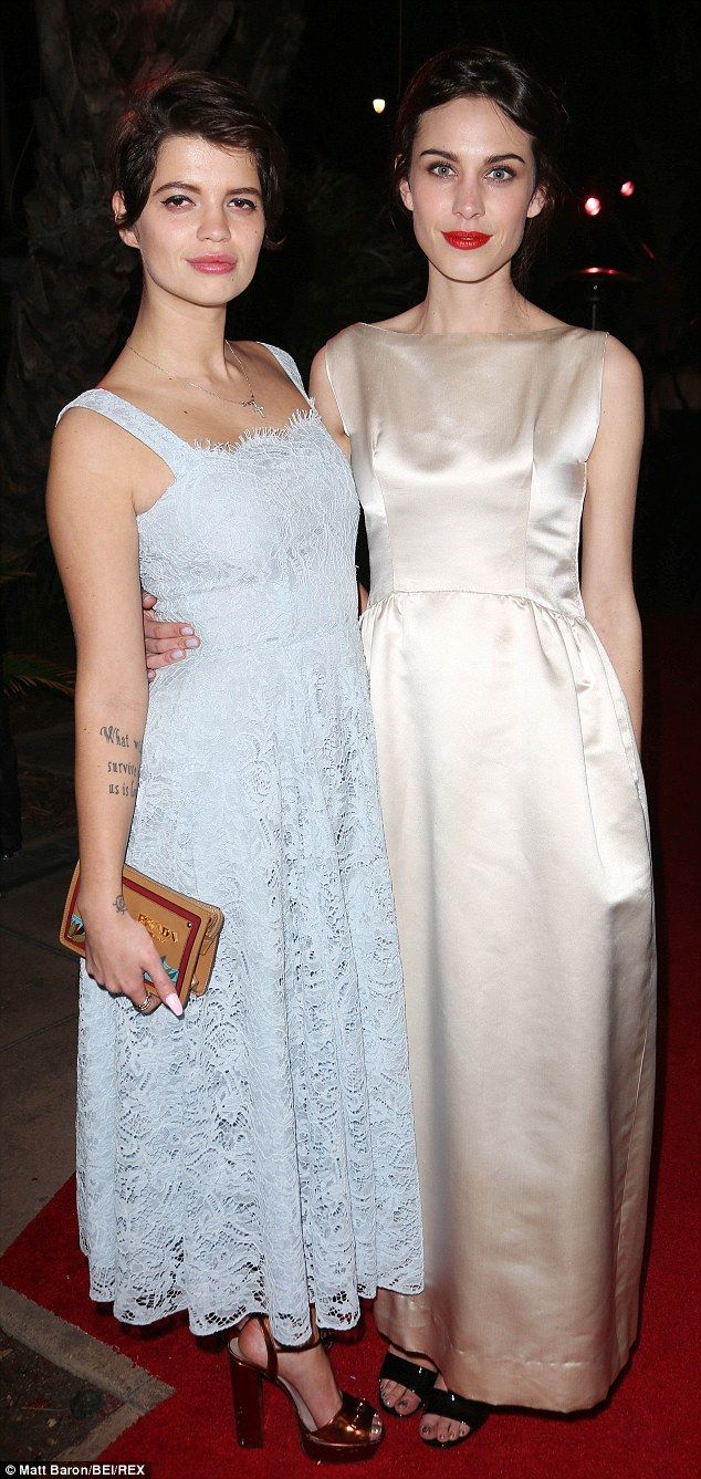 Pixie Geldof and Alexa Chung at the 2014 Instyle and Warner Bros Golden Globes After-party