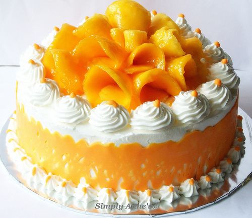 Mango Buttercream Cake. Amazing presentation and just delicious