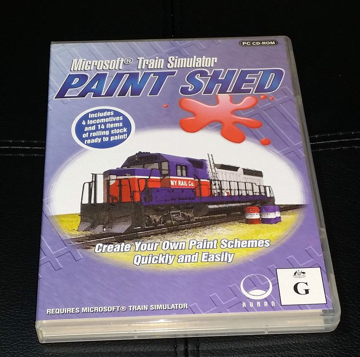 Microsoft Train Simulator Paint Shed WIN 98/2000/ME/XP - Brand New  FREE Postage