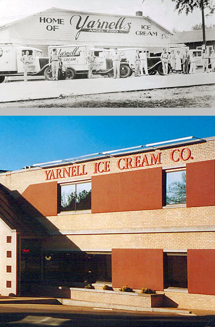 Yarnell Ice Cream, an Arkansas icon ~ Headquartered in Searcy, maintained operations through four generations of the Yarnell family from 1932 to 2011. The company closed amid bankruptcy in 2011, but was purchased in 2012 by Schulze & Burch Biscuit Co. & relaunched in April 2012.