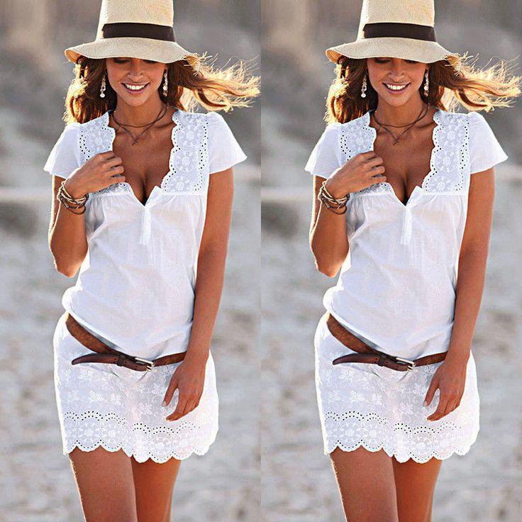 Dámské letní bílé mini šaty s krajkou – Velikost L Na tento produkt se vztahuje nejen zajímavá sleva, ale také poštovné zdarma! Využijte této výhodné nabídky a ušetřete na poštovném, stejně jako to udělalo již velké množství spokojených zákazníků před Vámi. materiál: bavlna, polyester Šaty jsou dostupné ve velikostech S, M, L a XL Tabulka …