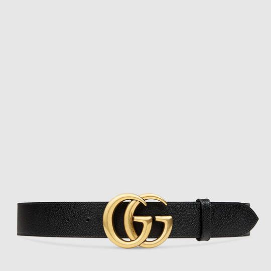 Gucci Leather belt with double G buckle. My boyfriend just got me this belt for my bday!