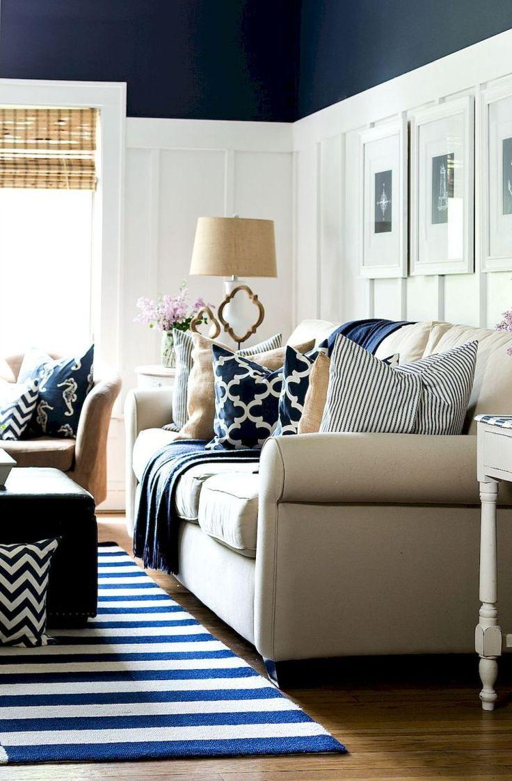 Fresh Lake House Living Room Decorating Ideas (28)