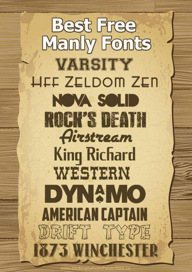 Download Masculine fonts | Manly fonts, Masculine font, Cricut fonts