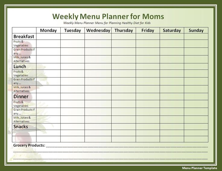 Best 25+ Menu planning templates ideas on Pinterest Monthly meal - menu printable template