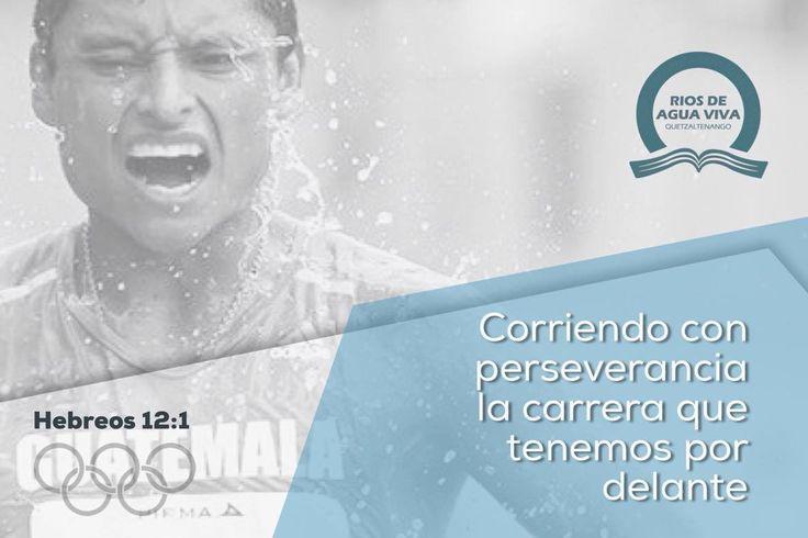 """""""Por tanto, nosotros también, teniendo en derredor nuestro tan grande nube de testigos, despojémonos de todo peso y del pecado que nos asedia, y corramos con paciencia la carrera que tenemos por delante."""" Hebreos 12:1 RVR60 #Rio2016 #SomosGUA #Guatemala #GuateEnRío #Olimpiadas #IcaRiosXela"""