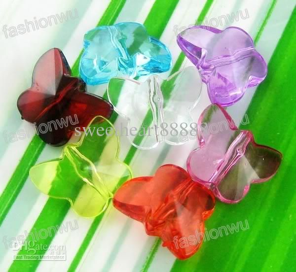Wholesale MIC Lot 300 pcs Plastic colorful Butterfly Beads 1 110622, Free shipping, $0.03-0.03/Piece | DHgate