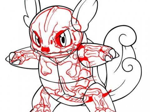 008 WARTORTLE Pokemon Xray
