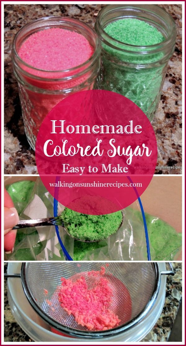 Homemade Colored Sugar is perfect for Christmas baking and so easy to put together!