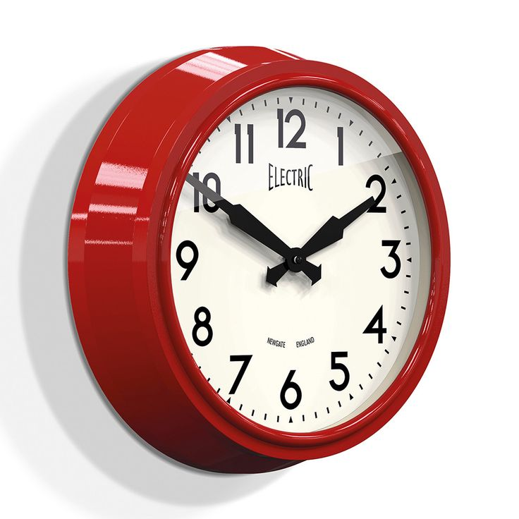 Buy Newgate Clocks 50's Electric Wall Clock - Biscuit Box Red | Amara