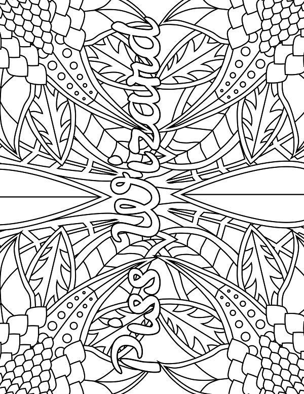 Forest - Adult Coloring page - swear. 14 FREE printable coloring pages, Visit swearstressaway.com to download and print 14 swear word coloring pages. These adult coloring pages with colorful language are perfect for getting rid of stress. The free printable coloring pages that are given change, so the pin may differ from the coloring pages give at swearstressaway.com - Color & Swear #coloring #art