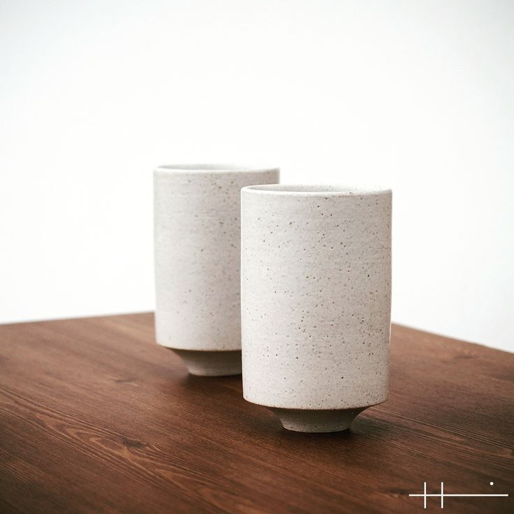 ceramic white cups by H,YEONGTAK
