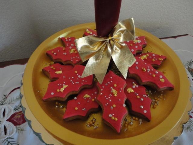 Centrotavola stella di Natale di panpepato