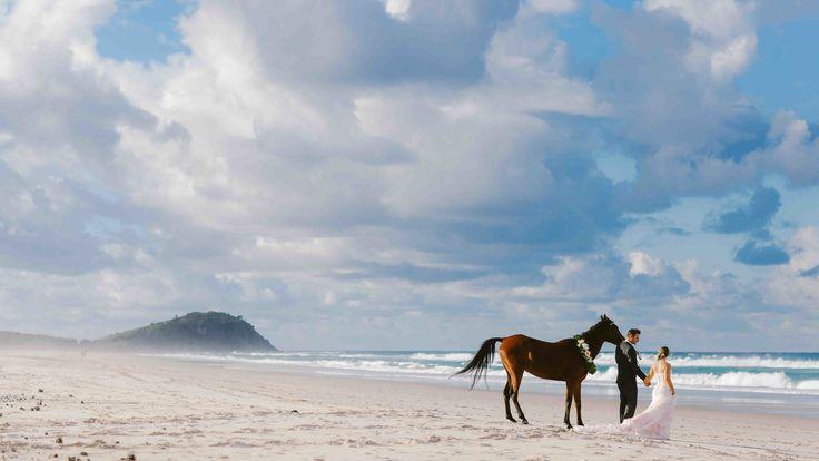 Photography: Raconteur Photography - www.raconteurphotography.com  Read More: http://www.stylemepretty.com/australia-weddings/2014/08/18/beach-bridal-inspiration-shoot/
