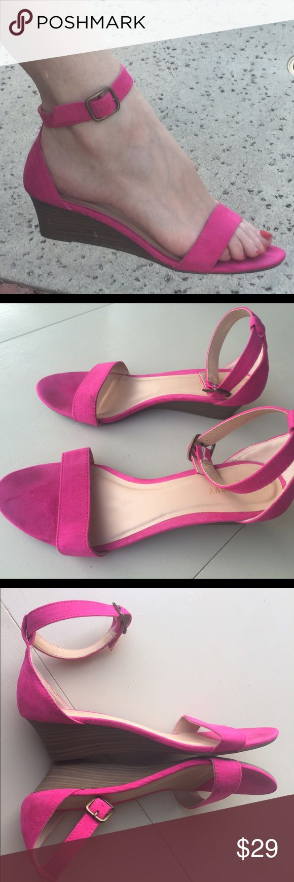 1000 ideas about pink wedges on pink