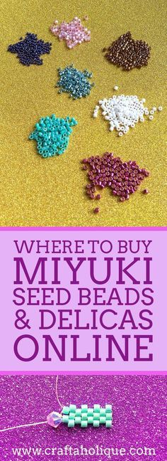 Love beading? Take a look at the best places I've come across to buy Miyuki seed beads and Delicas online. Covering UK and USA Miyuki stockists...