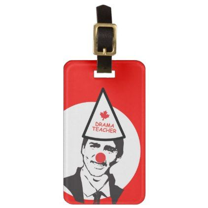 Hold My Beer Funny Justin trudeau Canada Clown Luggage Tag - accessories accessory gift idea stylish unique custom
