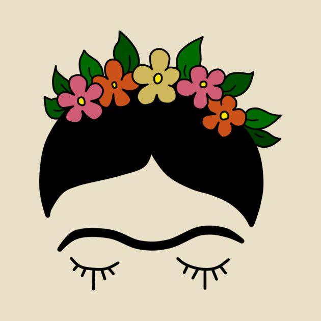 Check Out This Frida T Shirt On Teepublic Frida Dibujo Frida Kahlo Caricatura Frida Kahlo Dibujo