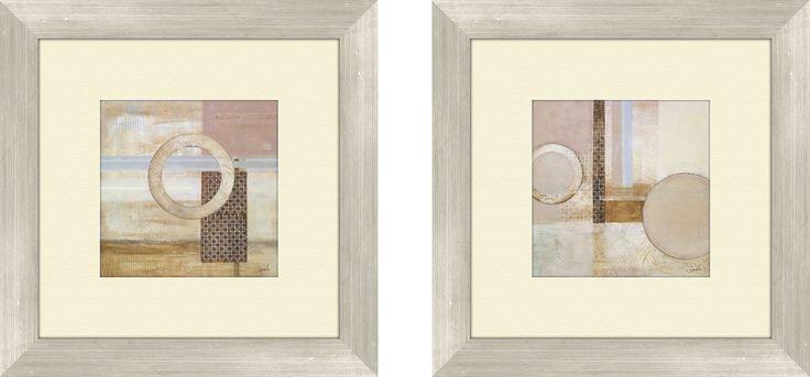 Contemporary Dream Decoder 2 Piece Framed Painting Print Set