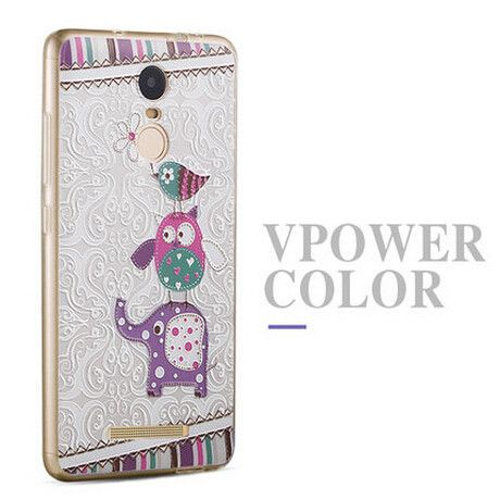 Xiaomi Redmi Note 3 case cover Vpower Silicone 3D Relief Print tpu soft Case for Xiaomi Redmi note 3 Pro Prime 5.5 inch