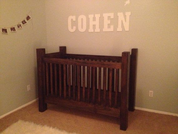 Best Handcrafted Rustic Wood Baby Crib By Rusticbabycribs On 400 x 300