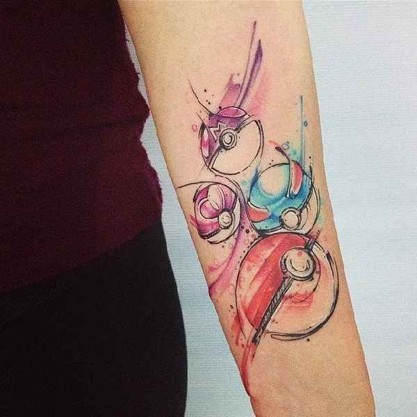 18 coole Pokeball Tattoos – Tattoo-Spirit