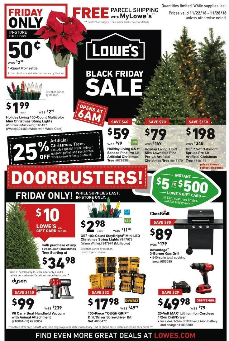 Artificial Christmas Friday Black Deals Lowes Trees For Low Aslowes Black Friday Deals For 2018 Ar Black Friday Black Friday Deals Black Friday Ads