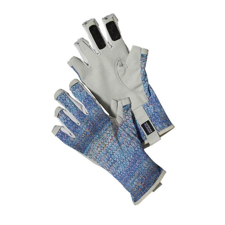Patagonia Technical Sun Gloves - Tarpon Face: Alaska Blue TPA-962