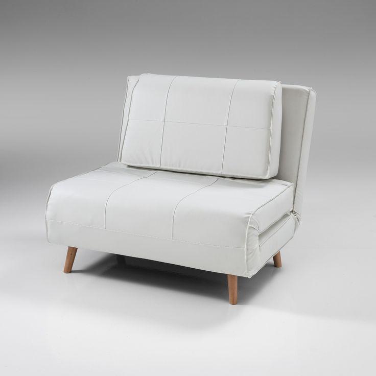 Poltrona+letto+Narumi+singola+convertibile+design+in+ecopelle+