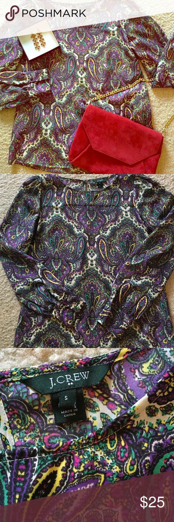 J Crew colorful paisley blouse! 💕 EUC J Crew paisley print blouse. Only worn a few times!!! J. Crew Tops Blouses
