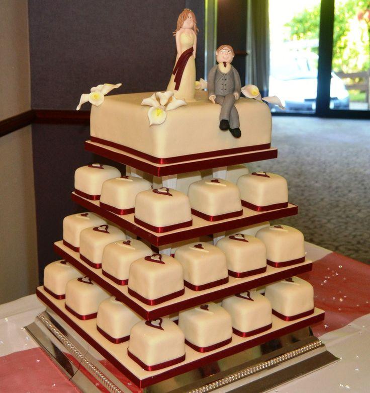 Miniature individually iced cakes