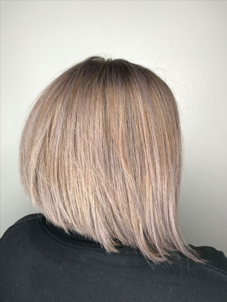 Ashy hair bob. A line  lavender hair