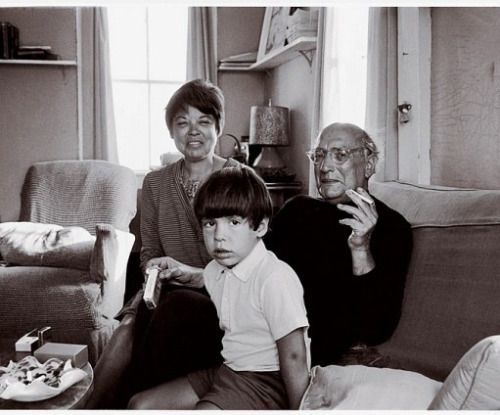 Daily Rothko Bonus: Mark Rothko with his wife, Mary Alice, and Christopher, 1968. Rothko and his wife separated on New Year's Day, one year later.