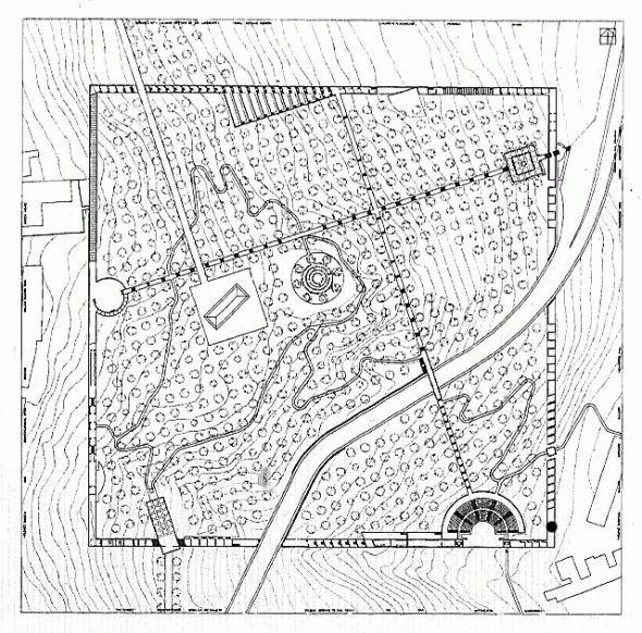 Oswald Mathias Ungers | Project for a City Park | 1985