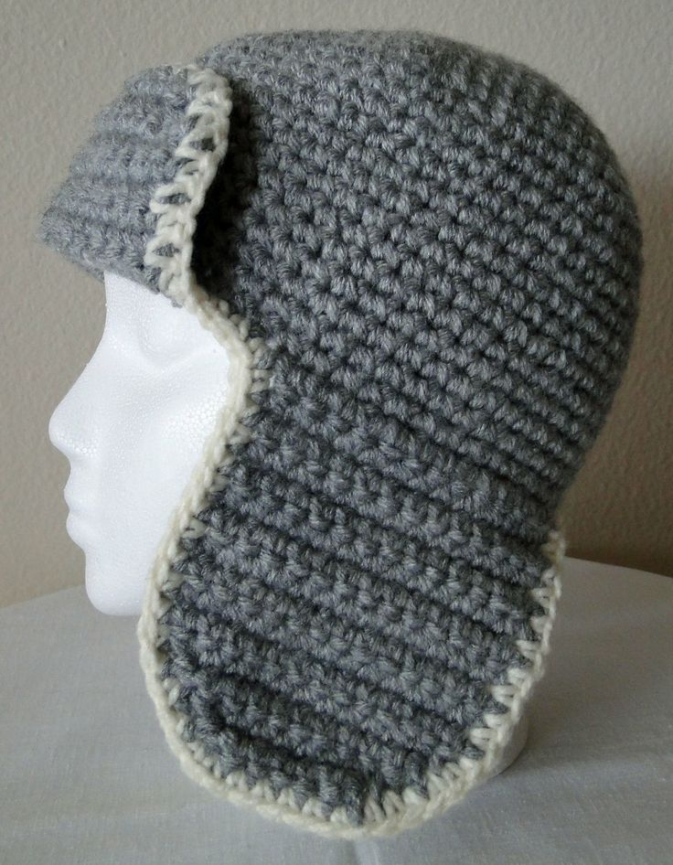 PDF modèle Crochet Aviator Hat chapeau par karensstitchnitch, $4,00