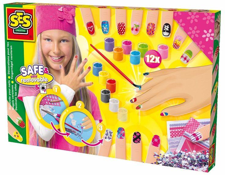 Malowanie paznokci dla dzieci  - lakiery  - zabawki kreatywne dla dziewczynek SES CREATIVE