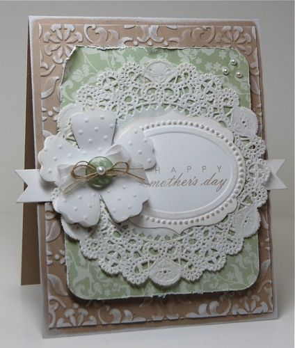 shabby chic cards | ... chic is not my normal style but after making my first shabby chic card