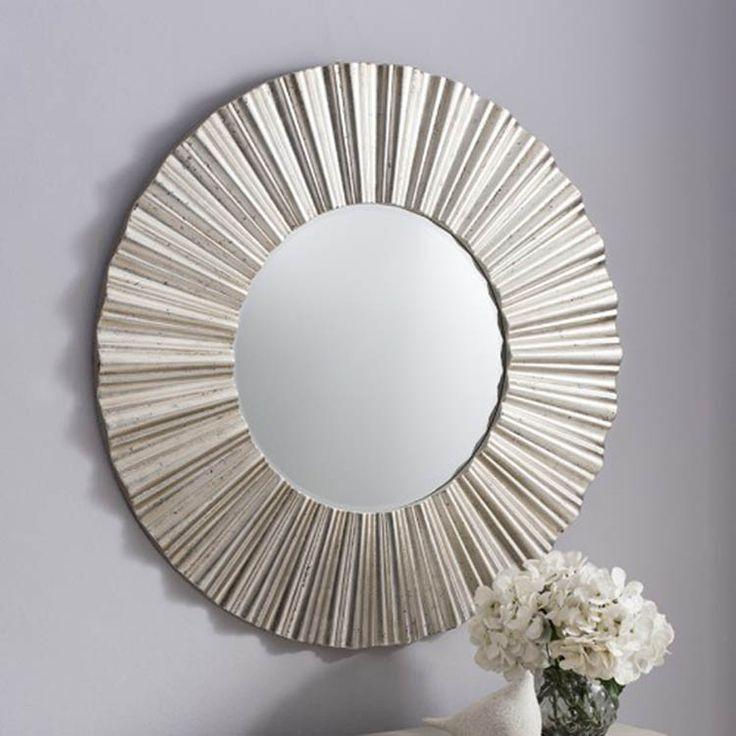 Cardew Modern Silver Round Mirror Livingroom Pinterest