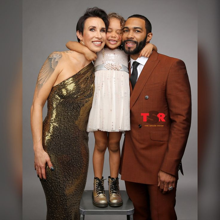 Omari Hardwick With Wife & Daughter