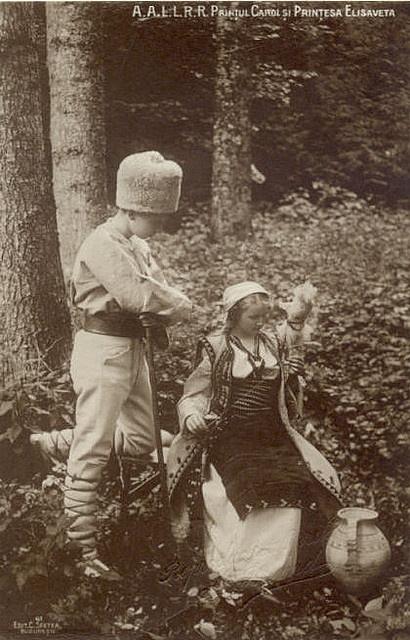 Prinz Carol und seine Schwester Prinzessin Elisabeth von Rumänien, future King of Romania and Queen of Greece