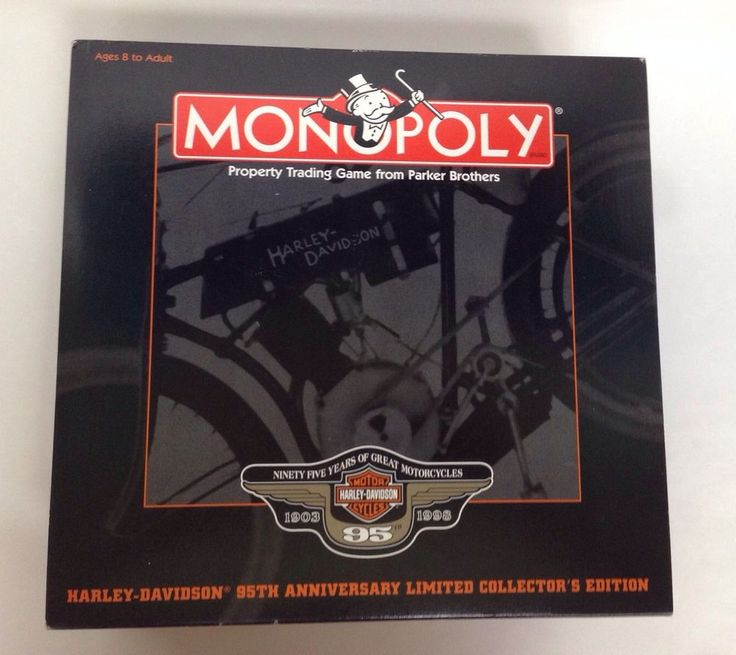 Harley Davidson Monopoly 95th Anniversary Limited Collectors Edition Board Game #Monopoly