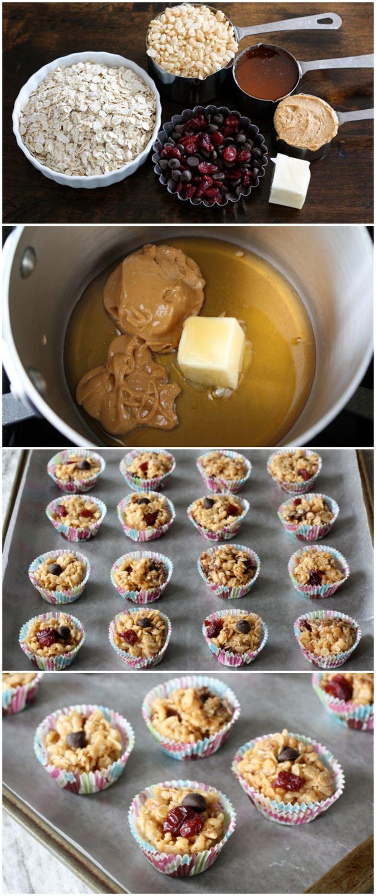 Peanut Butter Granola Balls Recipe on twopeasandtheirpod.com Love these easy no-bake treats!