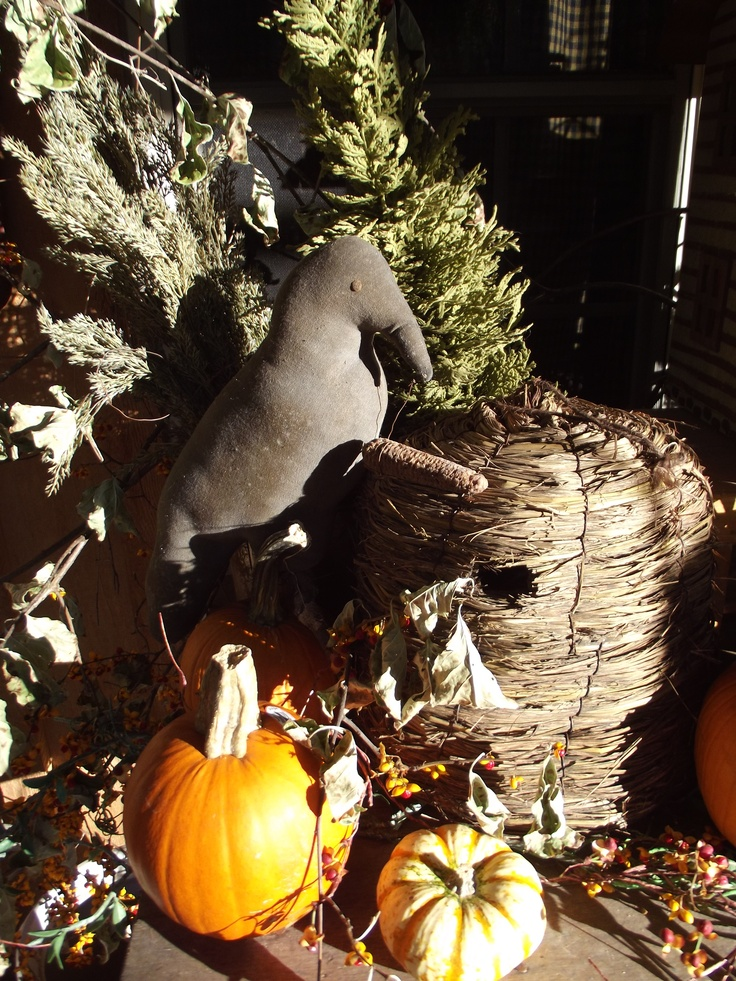 Primitive fall decorating