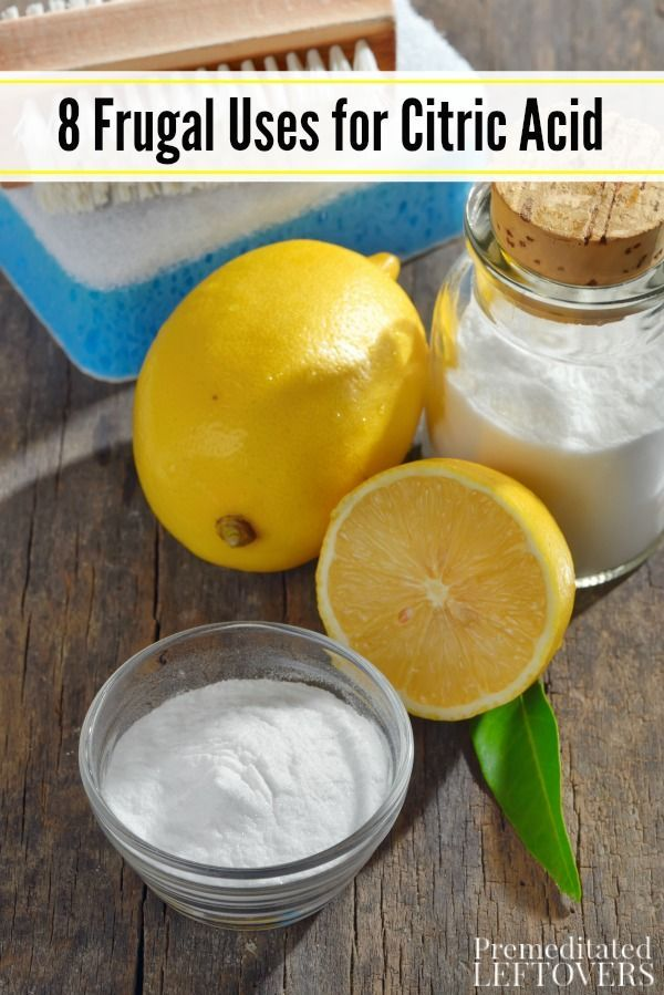 Citric acid has many household uses and can come in handy for more than you think. Here are 8 Frugal Uses for Citric Acid that you need try in your home!