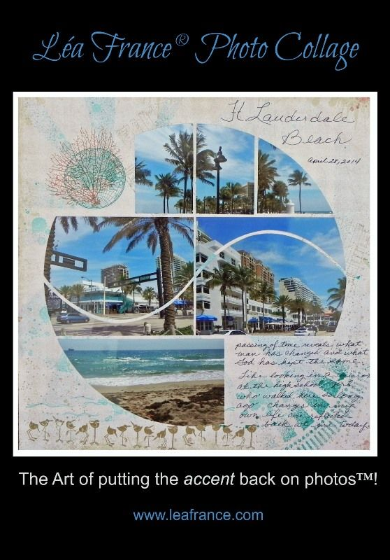 Photo Collage created by Joyce, A Lea France Designer, using Harmony Stencil. #Photos #Collage #Designs #Stencils #PhotoCollage #Art #Scrapbook #Crafts #LeaFrancePhotoCollage