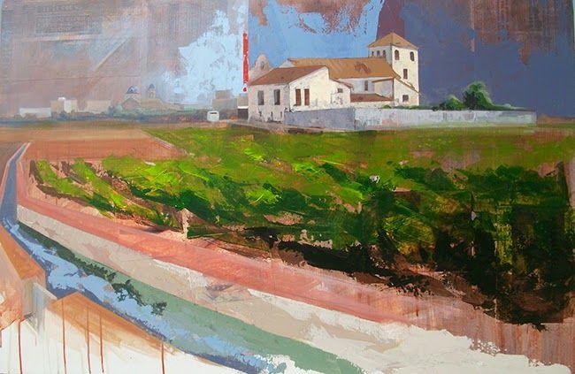 URBANA RUSTICA XXII – Huerta de Godella Valencia. Concurso de Rápida. Collage + Acrílico  82 X 122 cm. año 2014.